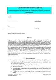Lieferantenrahmenvertrag (Strom) - Uffenheim