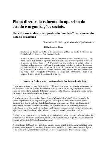 Plano diretor da reforma do aparelho do estado e ... - Bresser Pereira