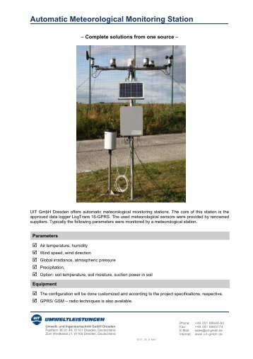 Data sheet_Meteorological station - Umwelt- und Ingenieurtechnik ...