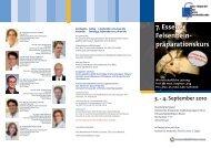 7. Essener Felsenbein- präparationskurs - Universitätsklinikum Essen
