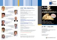9. Essener Felsenbeinpräparationskurs 31.08 - Universitätsklinikum ...