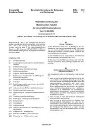 Habilitationsordnung - Universität Duisburg-Essen