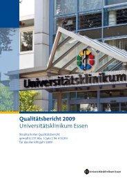 Qualitätsbericht 2009 Universitätsklinikum Essen