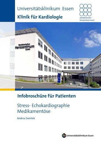 Stress- Echokardiographie Medikamentöse Universitätsklinikum ...