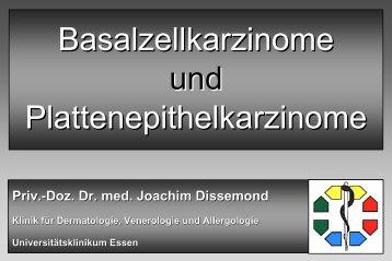 Basalzellkarzinome und Plattenepithelkarzinome