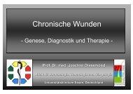 Chronische Wunden - Universitätsklinikum Essen