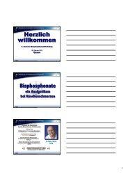 Bisphosphonate ein Analgetikum bei Knochenschmerzen