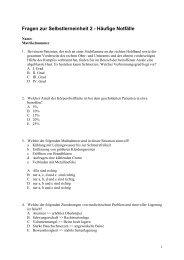 Fragen zur Selbstlerneinheit 2 - Häufige Notfälle