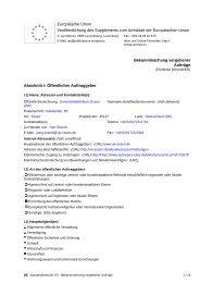 Europäische Union Veröffentlichung des Supplements zum ...