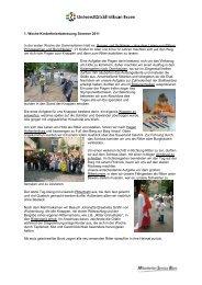 1. Woche Kinderferienbetreuung Sommer 2011 In der ersten Woche ...