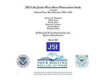 2012 Life Jacket Wear Rate Observation Study