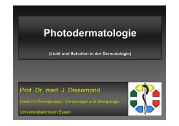 Photodermatologie - Universitätsklinikum Essen