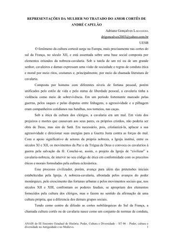 representações da mulher no tratado do amor cortês - Uesb
