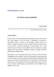 Os direitos da personalidade - eGov UFSC
