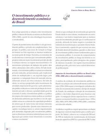 O investimento público e o desenvolvimento ... - Bresser Pereira