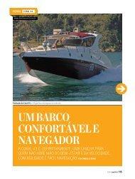 Um barco confortável e navegador - Lanchas Coral