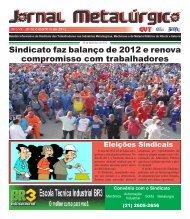 Sindicato faz balanço de 2012 e renova compromisso ... - CNM/CUT