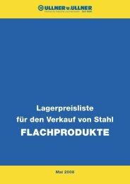 Lager-Verkaufspreisliste Bleche - Ullner u. Ullner