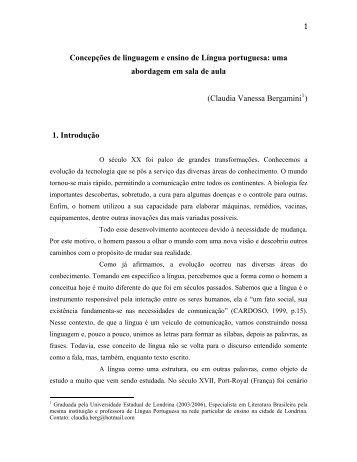 Concepções de linguagem e ensino de Língua portuguesa ... - Unopar