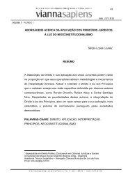 Abordagens acerca da aplicação dos princípios ... - Instituto Vianna Jr