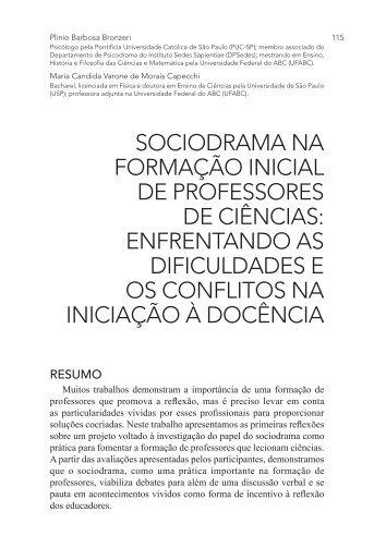 SOCIODRAMA NA FORMAÇÃO INICIAL DE ... - PePSIC