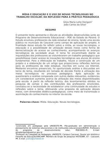 resumo - Secretaria de Estado da Educação do Paraná