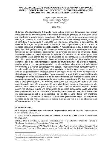 Pós-globalização e o mercado financeiro - EcoEco - Sociedade ...