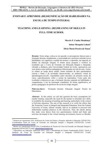 ensinar e aprender: (re)significação de habilidades na escola de ...