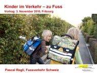 Kinder im Verkehr – zu Fuss - VCS Verkehrs-Club der Schweiz