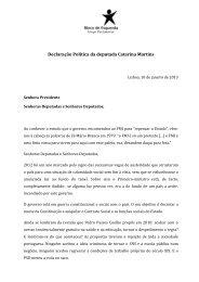 Declaração Política da deputada Catarina Martins - Esquerda.net