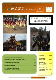 ECO DA VOZ DI PAZ Nº 1 - Guin-Bissau: CONTRIBUTO