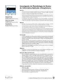 Investigação de Metodologia de Ensino de Informática Aplicada à ...