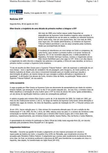 Notícias STF Página 1 de 5 Matérias Reconhecidas :: STF ...