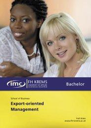 Export-oriented Management Bachelor
