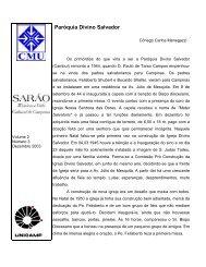 Artigo sobre o livro do Toninho para a revista Sarao, CMU - Unicamp