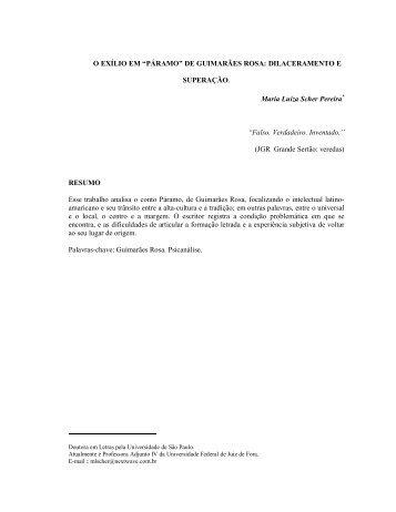 """""""PÁRAMO"""" DE GUIMARÃES ROSA - Psicanálise & Barroco"""