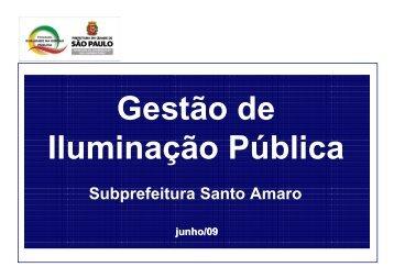 Gestão de Iluminação Pública - Subprefeitura Santo Amaro