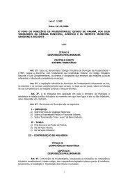1 Lei n° 1.301 Data: 21/12/2001 O POVO DO MUNICÍPIO DE ...