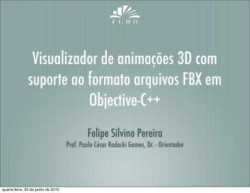 Visualizador de animações 3D com suporte ao formato arquivos ...
