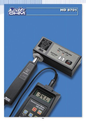 Sonómetro modelo HD 8701 - Pdf 132.20 KB - Disheco