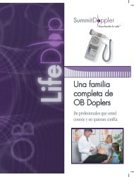 Una familia completa de OB Doplers - Summit Doppler