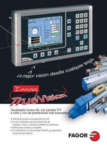 Visualizador Innova 40i, con pantalla TFT a ... - Fagor Automation