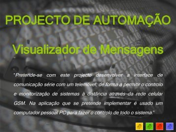 PROJECTO DE AUTOMAÇÃO Visualizador de ... - Ana Luísa Martins