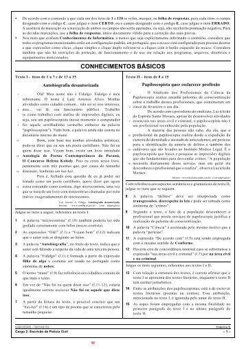 CONHECIMENTOS BÁSICOS - Jornal dos Concursos