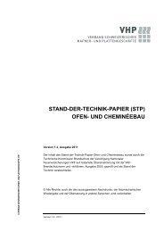 STAND-DER-TECHNIK-PAPIER (STP) OFEN- UND ... - VHP