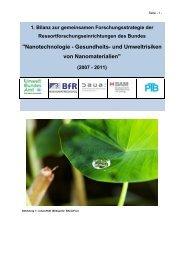 Nanotechnologie - Gesundheits - Umweltbundesamt