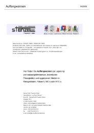 Auffangwannen - Umwelttechnik Stenzel GmbH