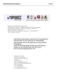 Brandschutzcontainer - Umwelttechnik Stenzel