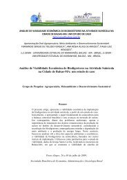 Análise de Viabilidade Econômica de Biodigestores na ... - SOBER