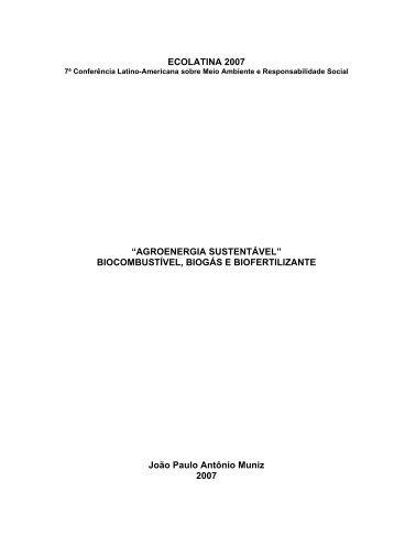 II SIMPSIO MINEIRO DE SUINOCULTURA - Ecolatina